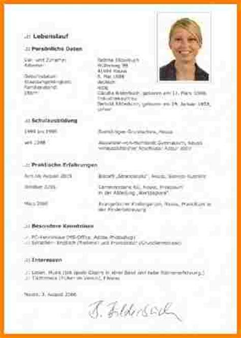 Bewerbung Lichtbild Format 7 Lebenslauf Unterschreiben Resignation Format