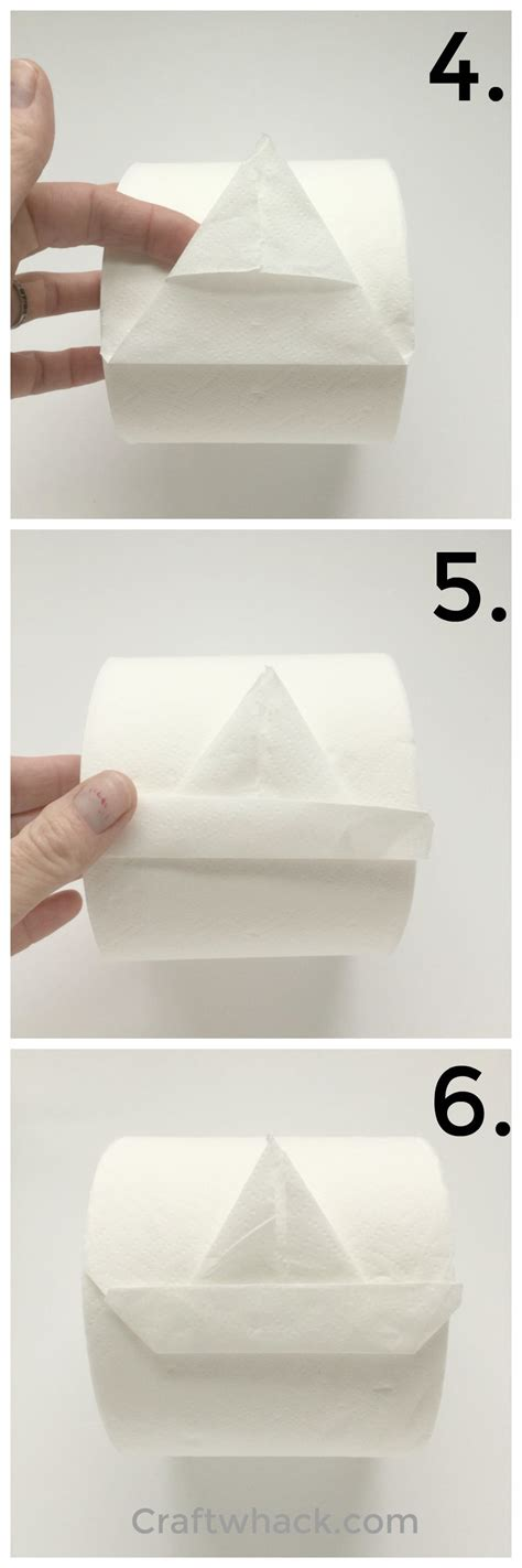 How To Make Toilet Paper Origami - ahoy learn to fold a toilet paper origami sailboat