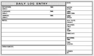 Ship Log Book Template log book what to record