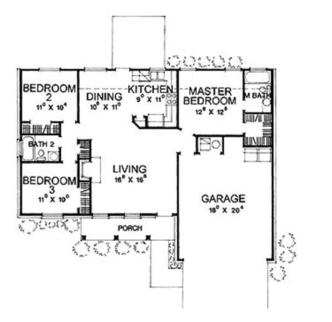 3 bedroom with garage house plans under 1100 square feet 17 best images about 1000 square feet homes on pinterest