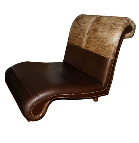 cowhide chaise oversized cowhide chaise lounge chair ebth