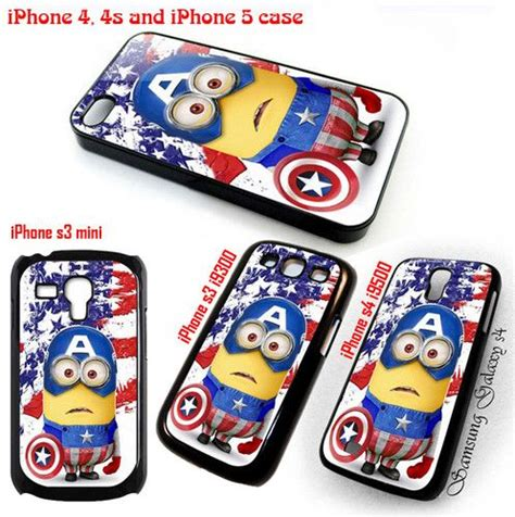Despicable Me Captain America Minion V1479 Iphone 5 5s Se Casing Pr 1000 images about minion on apple iphone zach galifianakis and iphone 4s