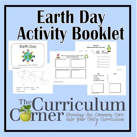 day activities for earth day activity booklet the curriculum corner 123