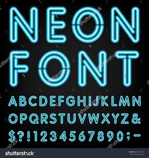 Neon Font Generator Chalkboard Neon
