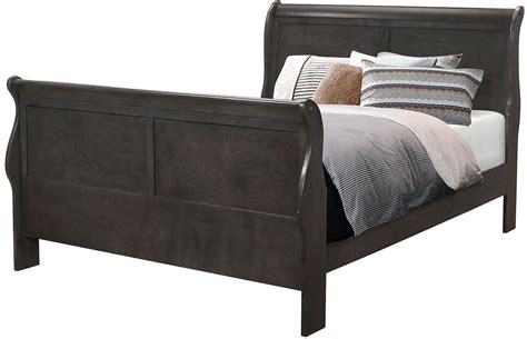 charcoal grey bedroom furniture hershel louis philippe dark charcoal grey panel bedroom