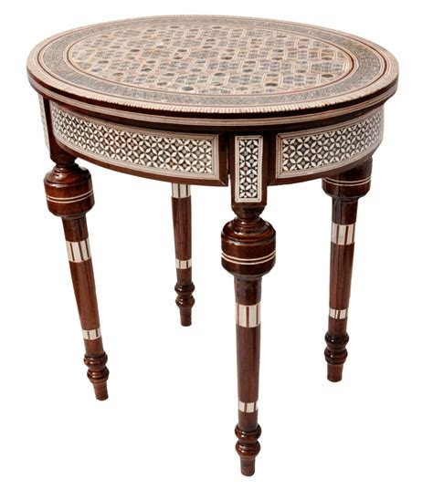 Handcrafted Wood Coffee Table Handcrafted Moroccan Of Pearl Inlay Wood Coffee Side Table Ebay