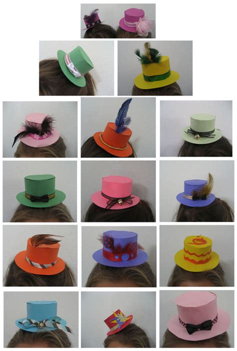 How To Make A Small Paper Hat - 16 paper mini top hats by curious kingdom on deviantart
