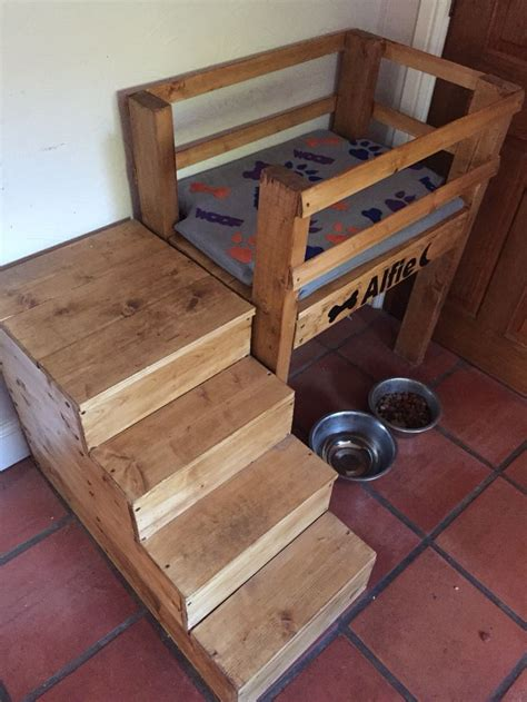 raised dog bed with stairs raised dog bed and mattress steps also open up for
