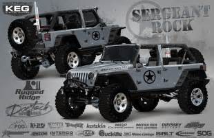 omix ada rugged ridge to debut sergeant rock jeep at