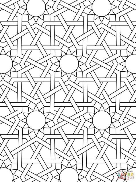 islamic pattern colouring book islamic ornament mosaic super coloring arts