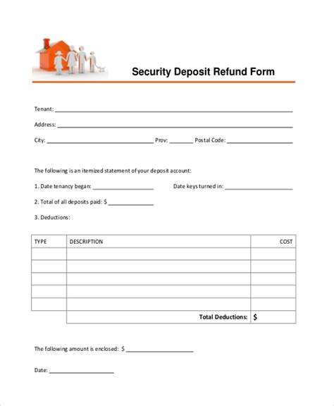 Ms Word Deposit Receipt Template by Deposit Receipt Template Security Deposit Receipt