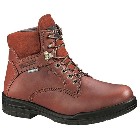 s wolverine 174 durashocks 174 6 quot steel toe eh boots