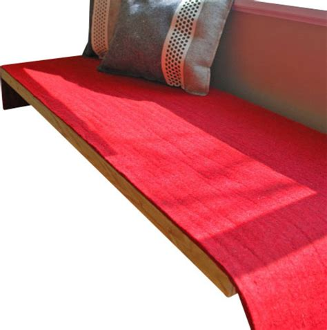 bench cushion 36 x 18 felt bench cushion red 60 x 18 5 x 0 20 inch