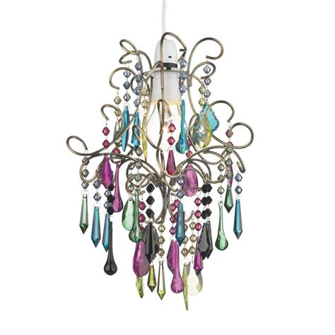 multi coloured glass chandelier easy fit light shade multi coloured chandelier to buy from