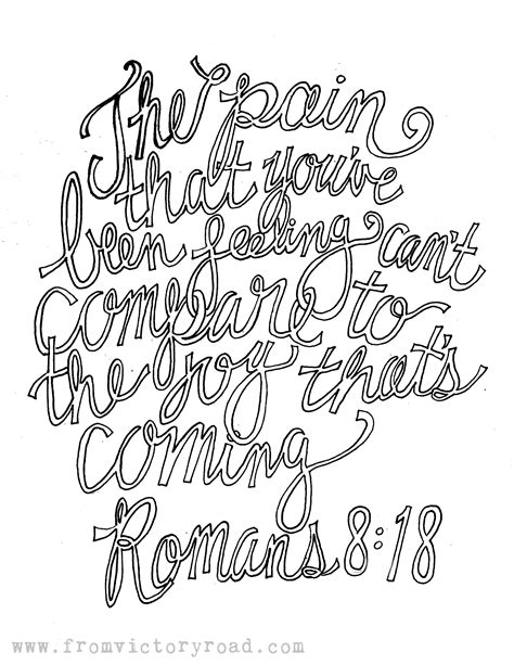 Romans 8 Coloring Page by Romans 8 18 Coloring Page From Victory Road