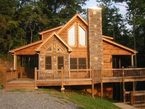 Pictures Of Log Cabins With Wrap Around Porch Watershed Luxury Log Home Rentals