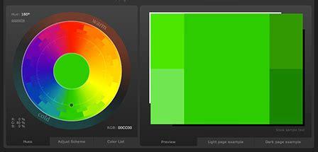 color scheme designer 3 webサイトの配色を決めてくれる他にもその配色を使ったデモサイトも確認できるジェネレーター color scheme