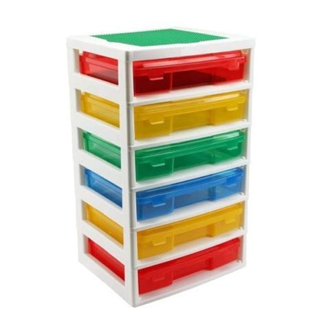 Lego Storage Drawer by Iris Lego 6 Drawer Workstation And Storage Tabletop 2 Base