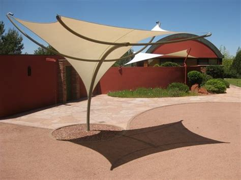 tensile shade sculptures landscaping network