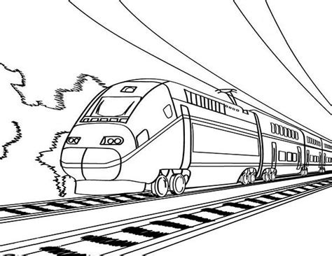 coloring page high speed train european high speed train coloring page color luna