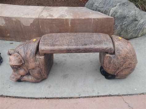 concrete pig bench benches pig bench