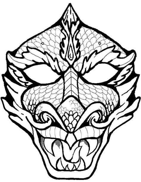 printable masks dragon imagery camila oliveira fairclough