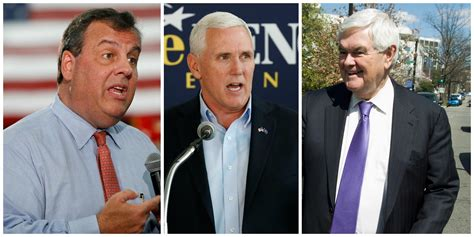 donald trump vice president donald trump favors christie pence and gingrich as he