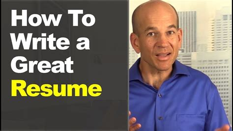 how to write a great resume in 60 minutes includes sle