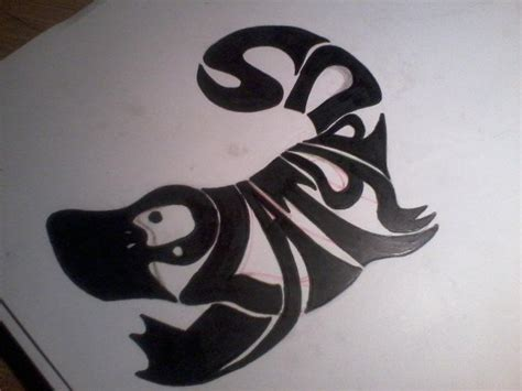 platypus tattoo platypus typography by jaggededges on deviantart