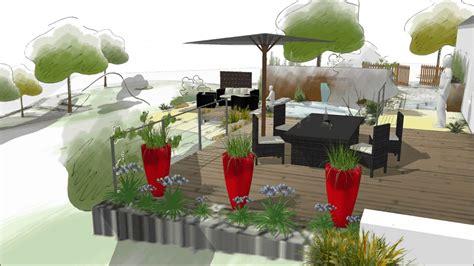 Jardin Paysagé Contemporain by Projet D Am 233 Nagement D Un Jardin Contemporain Daniel