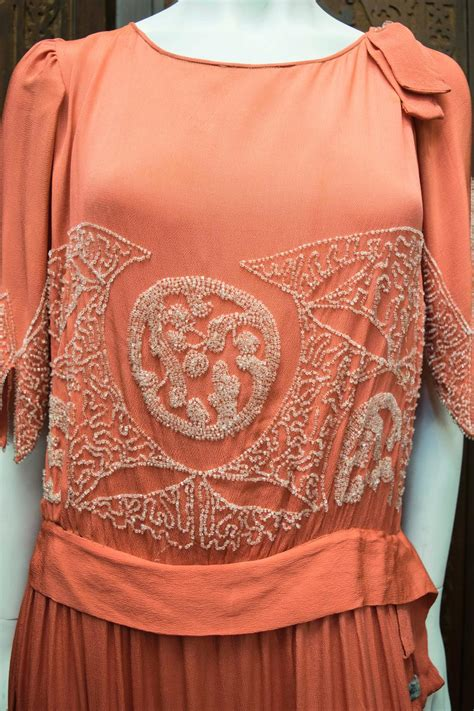 1920 beaded dresses for sale 1920s pink beaded flapper dress for sale at 1stdibs