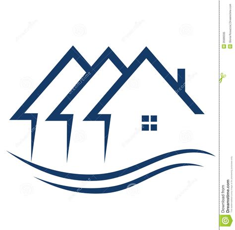 real estate house logo real estate houses logo royalty free stock photo image 26986595
