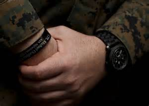 Usmc Kia Bracelet Of Bracelets And Bits Of Colored Ribbon Earned Or