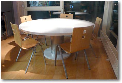 tables de cuisine rondes table de cuisine corian ronde crea diffusion sp 233 cialiste corian 174