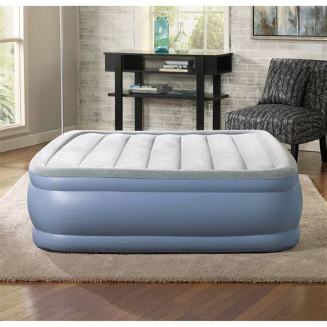 simmons beautyrest size hi loft raised air bed mattress w express ebay