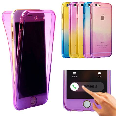 Diskon A Iphone 6 Plus 5 5 Soft Jelly protective soft rainbow cases fundas for iphone 6 6s