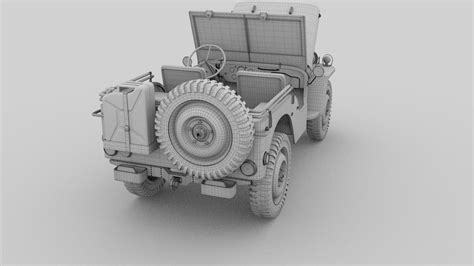 jeep open full w chassis jeep willys mb military rev by