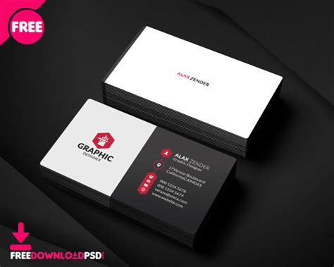 graphic designbusiness card template free graphic designer business card freedownloadpsd
