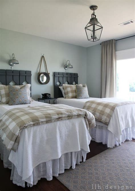 sherwin williams sea salt welcoming farmhouse style guest bedroom bedrooms and bedroom decor