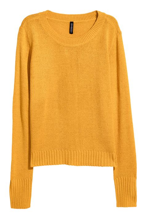 mustard color sweater knit sweater mustard yellow divided h m us