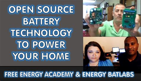 your home source introducing open source battery technology to power your