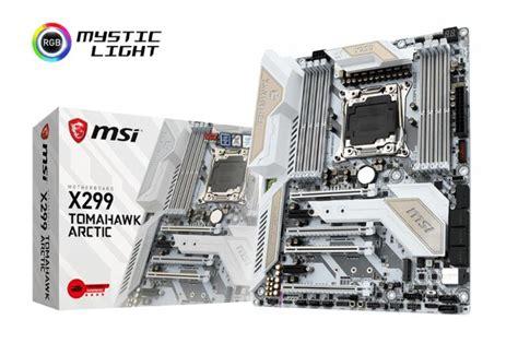 Msi X299 Tomahawk Arctic Lga 2066 the msi x299 tomahawk arctic motherboard review white as snow