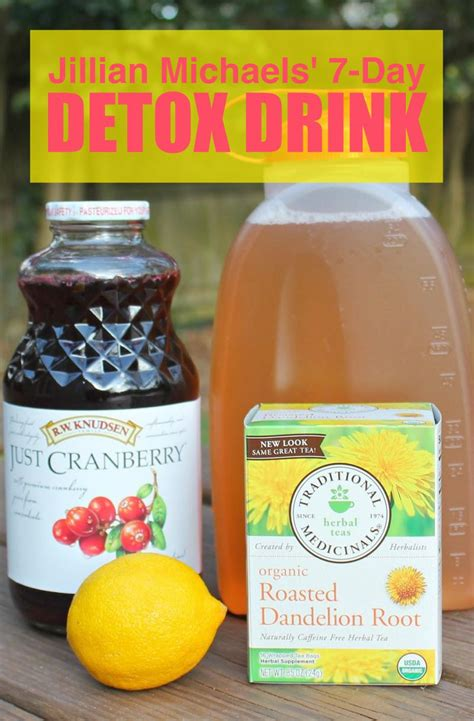 Jillian Detox Water Recipe by Jillian 7 Day Detox Drink For Water Loss