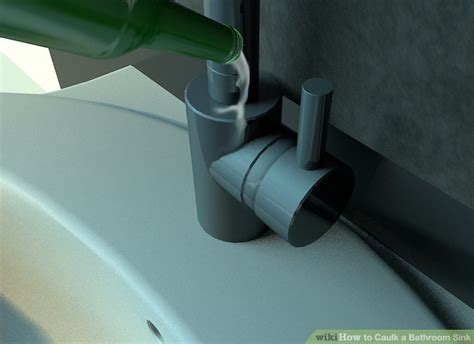 bathroom sink caulk how to caulk a bathroom sink 12 steps with pictures