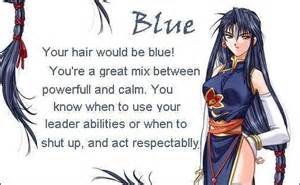 blue hair anime photo 17429076 fanpop
