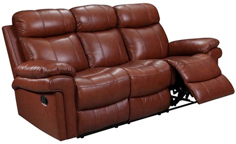 Saddle Leather Sofa by Joplin Saddle Leather Power Reclining Sofa 1555 E2117