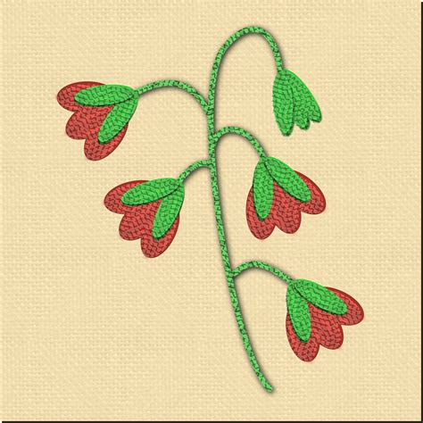 desain bunga kain gambar sulam benang motif bunga tutorial pita gambar