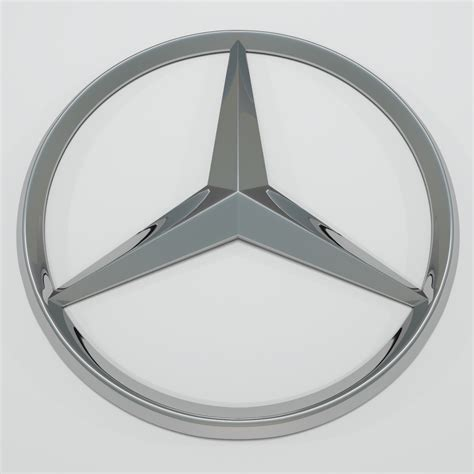logo mercedes 3d mercedes logo 3d model buy mercedes logo 3d model