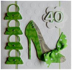s cards 40th birthday card for a that shoes and handbags
