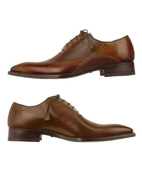 Handcrafted Italian Shoes - forzieri brown italian handcrafted leather oxford